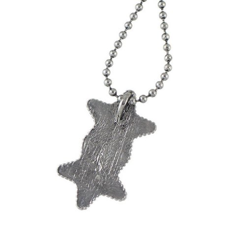New Pentagram Geometric Beaded Pendant Sweater Chain - SILVER  Mobile