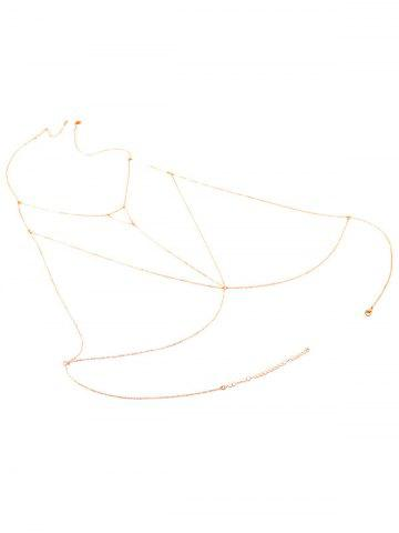 Buy Alloy Triangle Hollow Out Beach Body Chain - GOLDEN  Mobile