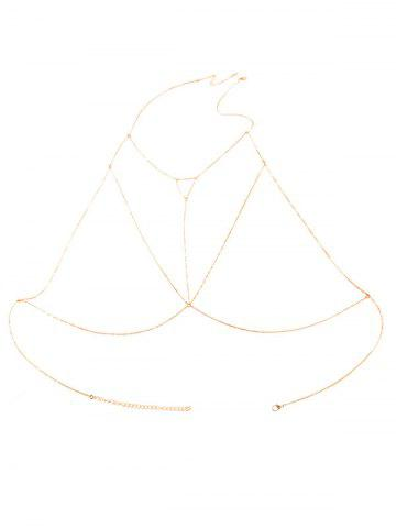 Discount Alloy Triangle Hollow Out Beach Body Chain - GOLDEN  Mobile