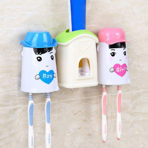 Cheap Creative Toothpaste and Toothbrush Holder Washing Suit