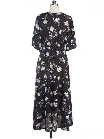 Flowers Print Tied Belt Surplice Dress от Rosegal.com INT