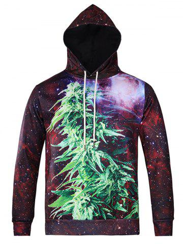 Affordable Plant 3D Printed Galaxy Hoodie