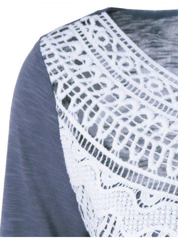 Lace Splicing Pleated T-Shirt от Rosegal.com INT