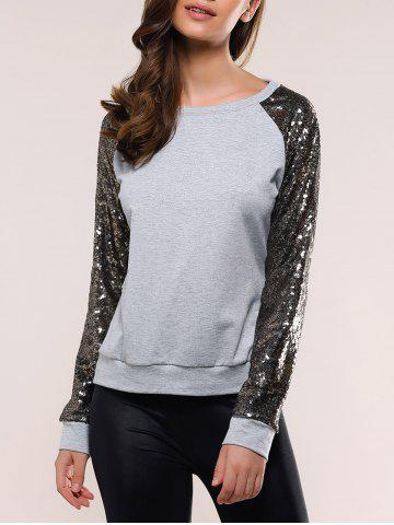 Best Sequins Raglan Sleeve Sweatshirt