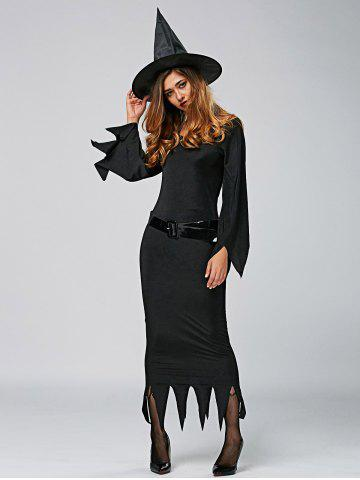 Trendy Maxi Dress Witch Cosplay Halloween Dress