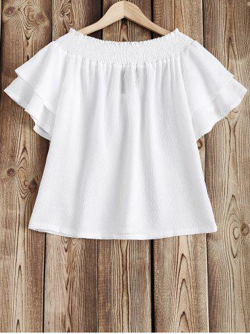 Cheap Frilled Sleeve Off The Shoulder Top