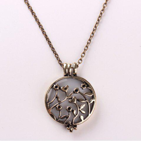 Trendy Retro Noctilucence Hollowed Rattan Necklace COPPER COLOR