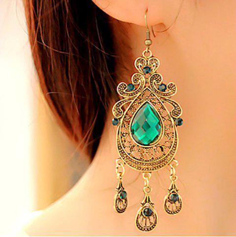 Store Teardrop Faux Crystal Drop Earrings