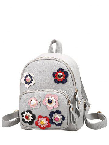 Shop Color Block Flowers Rivets Backpack