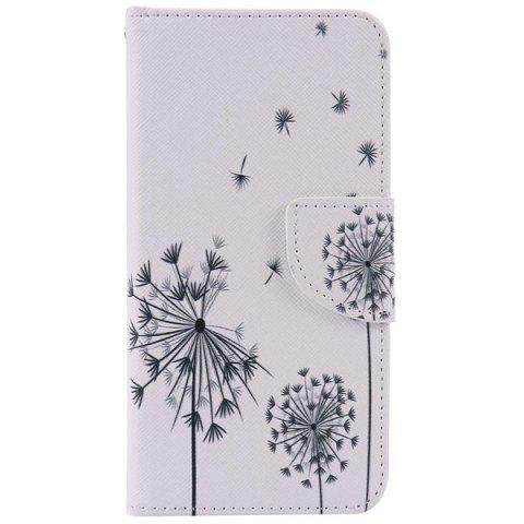 Sale Dandelion Pattern Wallet Phone Case For iPhone 7 Plus - WHITE  Mobile