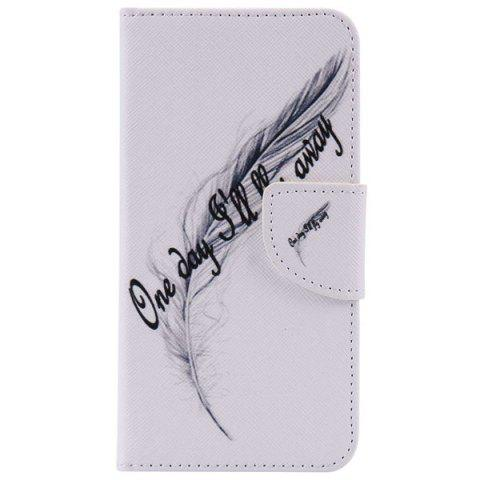 Chic Wallet Design Feather Letter Phone Case For iPhone 7 Plus