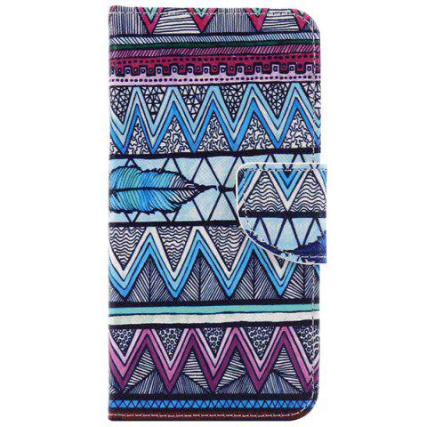 Shop Ethnic Wavy PU Leather Wallet Phone Case For iPhone 7 Plus