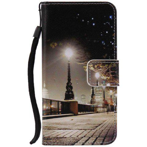 Cheap City Night Wallet Design Phone Case For iPhone 7