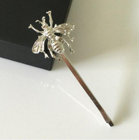 New Hair Accessory Side Clip Bee Hairpin - SILVER  Mobile