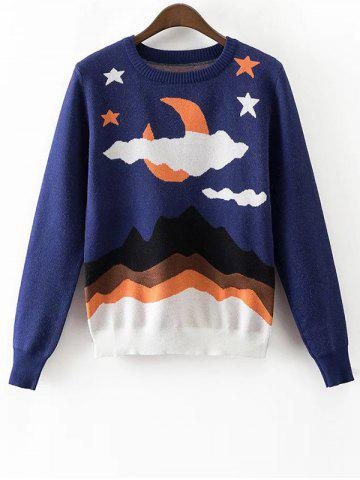 Fancy Cloud Star Jacquard Knit Jumper
