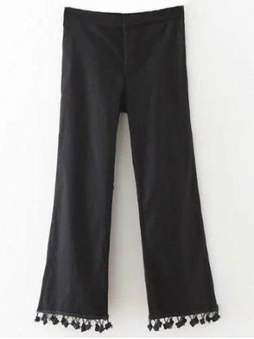 Affordable Pom Pom Flare Crop Trousers