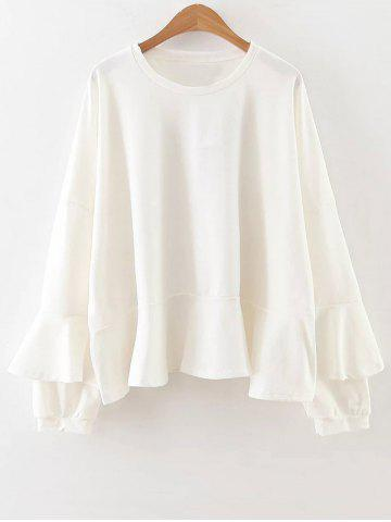 Hot Long Sleeve Frilly Top