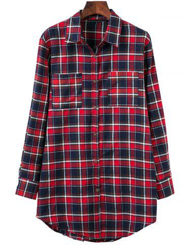Outfits Plaid Oversized Flannel Shirt With Pockets