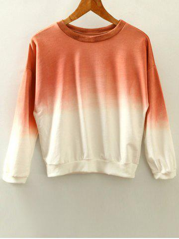 Latest Round Neck Ombre Sweatshirt
