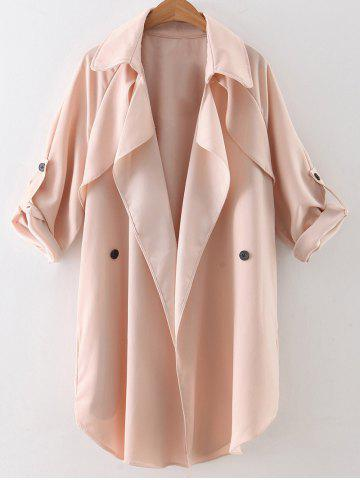 Discount Waterfall Buttoned Trench Coat