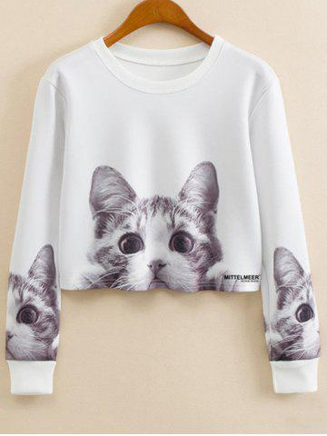 New Crew Neck Cartoon Print Sweatshirt