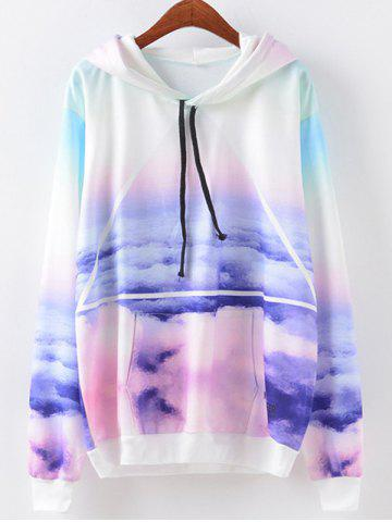 Store Sky Print Hoodie COLORMIX M