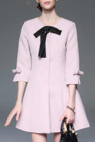 Outfits Bowknot Coat with Pockets