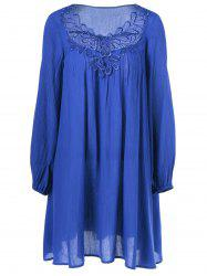 Lace Splicing Peasant Dress -