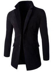 Back Vent Pocket Design Notch Lapel Coat