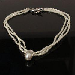 Faux Pearl Layered Beaded Necklace
