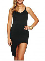 Spaghetti Strap Asymmetric Club Dress