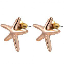 Geometric Star Shape Stud Earrings -