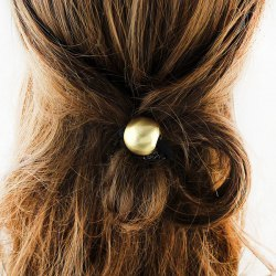 Alloy Round Bead Elastic Hair Band