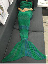 High Quality Super Soft Crochet Knitted Mermaid Tail Sofa Blanket