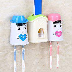 Creative Toothpaste and Toothbrush Holder Washing Suit -
