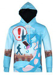 Cartoon Monster Printed Pullover Cool Hoodie -
