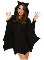 Hooded Bat Cosplay Halloween Costume -