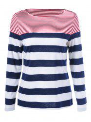 Striped Long Sleeves T-Shirt - COLORMIX M