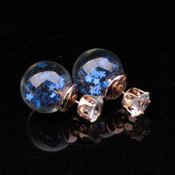 Lucency Ball Star Stud Earrings
