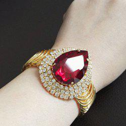 Waterdhop Rhinestone Faux Ruby Bracelet - GOLDEN