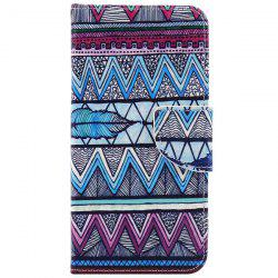 Ethnic Wavy PU Leather Wallet Phone Case For iPhone 7 Plus -