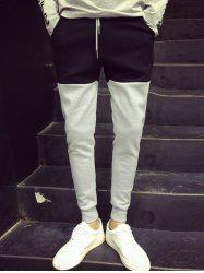 Color Block Drawstring Waist Jogger Pants