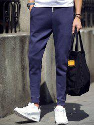 Skinny Color Block Drawstring Jogger Pants