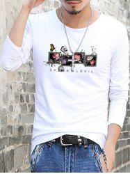 Slim Fit Floral Printed Round Neck T-Shirt
