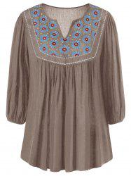 Floral Embroidered Maxican Peasant Blouse