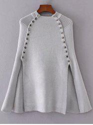 Cape Rivet Slit Knitwear -