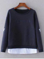 Layered Hem Star Sweatshirt -