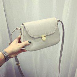 Leather Flap Crossbody Bag -