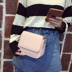 Cover Stitching Mini Crossbody Bag - PINK
