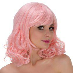 Medium Oblique Bang Wavy Synthetic Lolita Wig